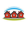 Colorful of country houses on nature backgro vector image
