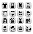 fashion clothes icons vector image