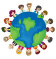 men and women around the world vector image