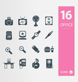 Office icons 2 vector image