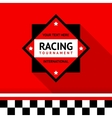 Racing badge 02 vector image