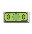 blank dollar bill icon vector image