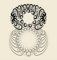 Number 8 floral decorative ornament vector image vector image