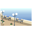 Street Cafe at the sea vector image vector image