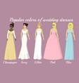 wedding dresses of popular colors vector image