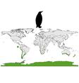 Penguins range vector image vector image