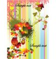 autumn stripped background vector image
