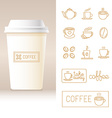 realistic coffee to go cup template vector image vector image