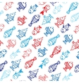 Background fish vector image