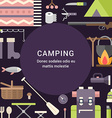 Camping Concept Flat Style with Place for Text vector image