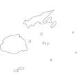 Black White Fiji Outline Map vector image vector image