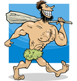 caveman cartoon vector image