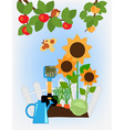 Fruit and vegetable garden vector image