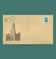 old postal envelope vector image