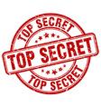 top secret red grunge round vintage rubber stamp vector image