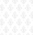 White 3D solid Fleur-de-lis vector image