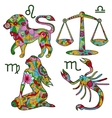 Colorful horoscope set 2 vector image vector image
