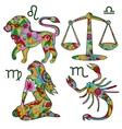 Colorful horoscope set 2 vector image