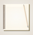 Paper notebook and pencil vector image