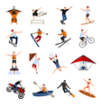 1608i123016Pm004c23extreme sports people flat vector image