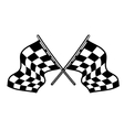 Crossed motor sport flags vector image
