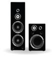speaker two in black vector image