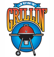 Just Grillin Barbecue Party Graphic vector image