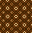 geometric pattern brown vector image vector image