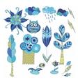 Spring Doodle Design Elements Set vector image