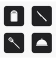 modern kitchen appliances icons set vector image vector image