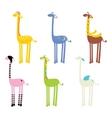 cute giraffe seamless vector image