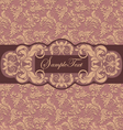 Invitation card style damask vector image