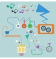 Music production process Concept vector image