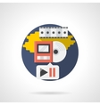 Playback media color detailed icon vector image