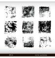 Set of different textural spots Grunge textures vector image