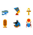 set of flat design egypt travel icons vector image