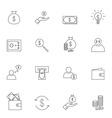 Money icon set outline vector image
