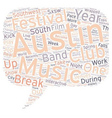 South By Southwest Festival In Austin text vector image