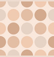 tile pastel pattern with big dots on beige vector image
