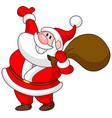 Santa pointing up vector image