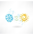 Climate control grunge icon vector image
