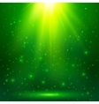 Green shining magic light background vector image vector image