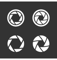 Shutter icons set vector image vector image