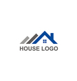 house roof construction abstract logo vector image