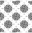 Nautical compass black and white seamless pattern vector image vector image