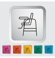Chair for baby vector image