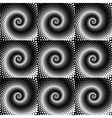 Design seamless spiral dots pattern vector image