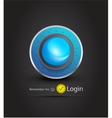 sphere login page vector image vector image