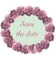 hydrangea floral wreath vector image