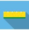 kitchen sponges flat icon vector image